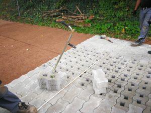 Landwirtschaftlicher Weg in Pflasterbauweise